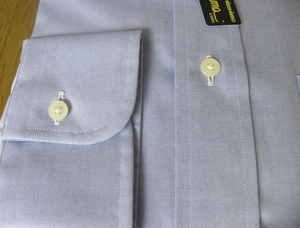 J.PRESS(ジェイプレス) ボタンダウンシャツ メンズ 長袖ワイシャツ ブルー ブロードクロス L(衿41-袖丈84)