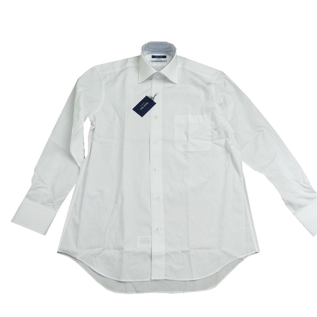Kent Aveの長袖ワイドカラーシャツ ホワイト  SW500  39cm 41cm 43cm
