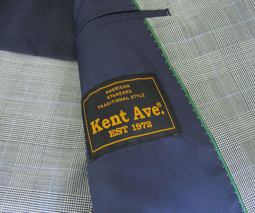 Kent Aveのメンズトラッド1型春夏3つボタンスーツ グレンチェックオーバーペン 381 A6