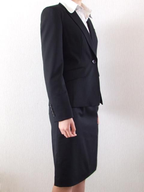 サムライ・ファム・アラン・ドロンのレディース春夏物1ツボタンジャケット 黒 009  7号 11号 13号
