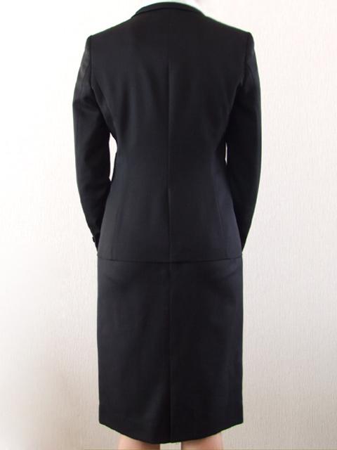 サムライ・ファム・アラン・ドロンの春夏1つボタン レディース スーツ BLACK 0309  7号