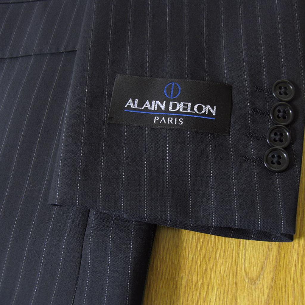 ALAINDELON(アランドロン)の春夏6つボタン ダブルスーツ ネイビー ストライプ 4188 AB4 BB4 BB5 BB6 BB7