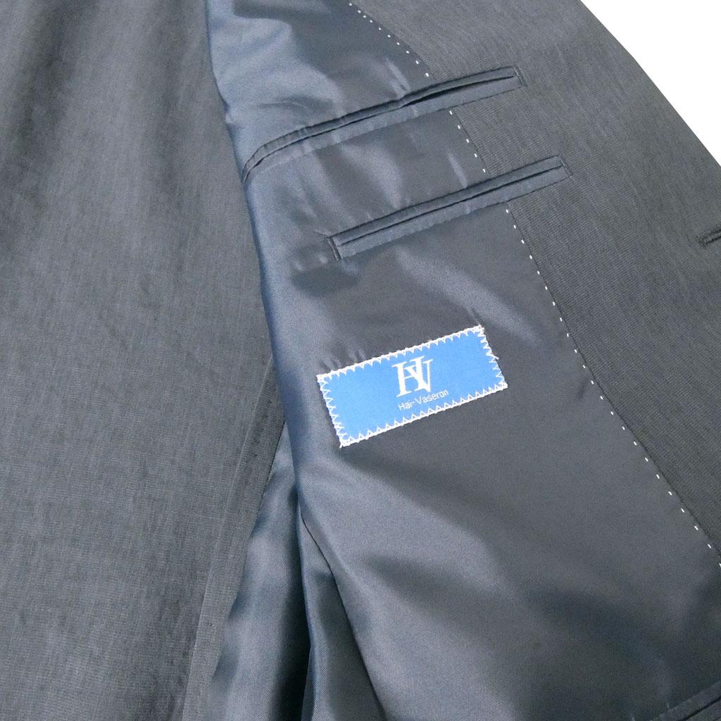 【お取り寄せ】 HAI-VASERON(ハイバセロン) 春夏 麻混 アンコンジャケット メンズ 2つボタン ネイビー 3313  AB4 AB5 AB6 BB4 BB5 BB6 BB7