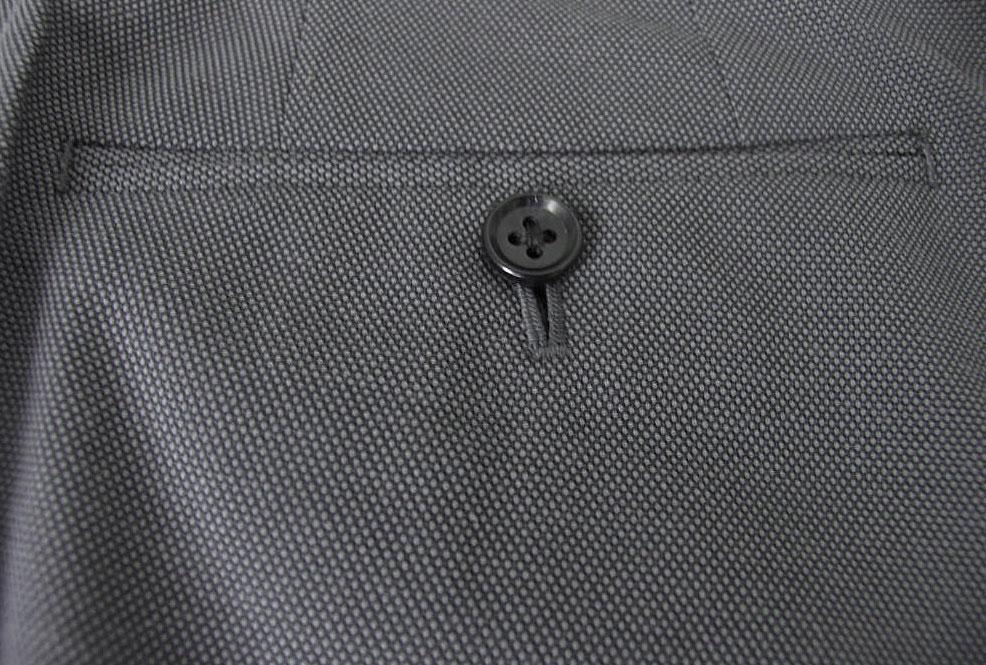 OXFORD CLASSIC ノータックパンツ メンズ 春夏 バーズアイ麻混 綿混 2パンツスーツ対応 ミディアムグレー 1408 80cm 82cm 84cm 86cm 100cm