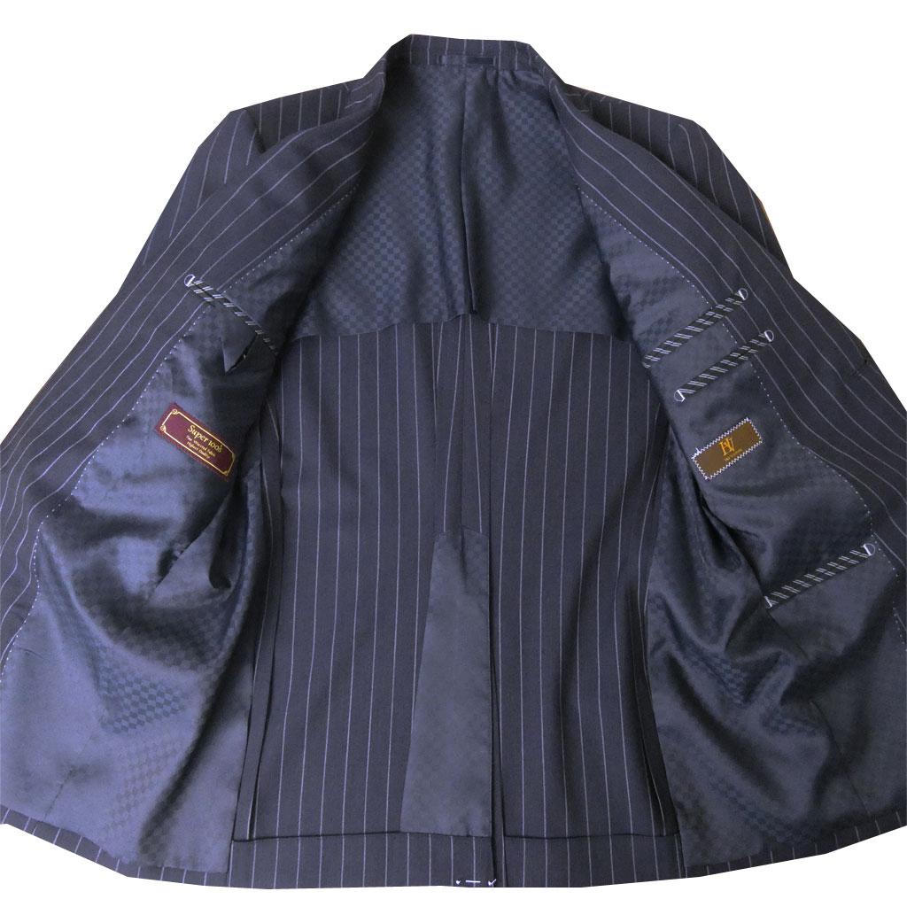 【お取り寄せ】 HAI-VASERON(ハイバセロン) 春夏秋 スーツ ネイビー ストライプ  0023 A4 A5 A6 AB4 AB5 AB6