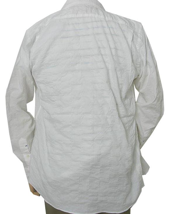 CHUBEI 長袖シャツ メンズ ホリゾンタル ホワイト HW3 L