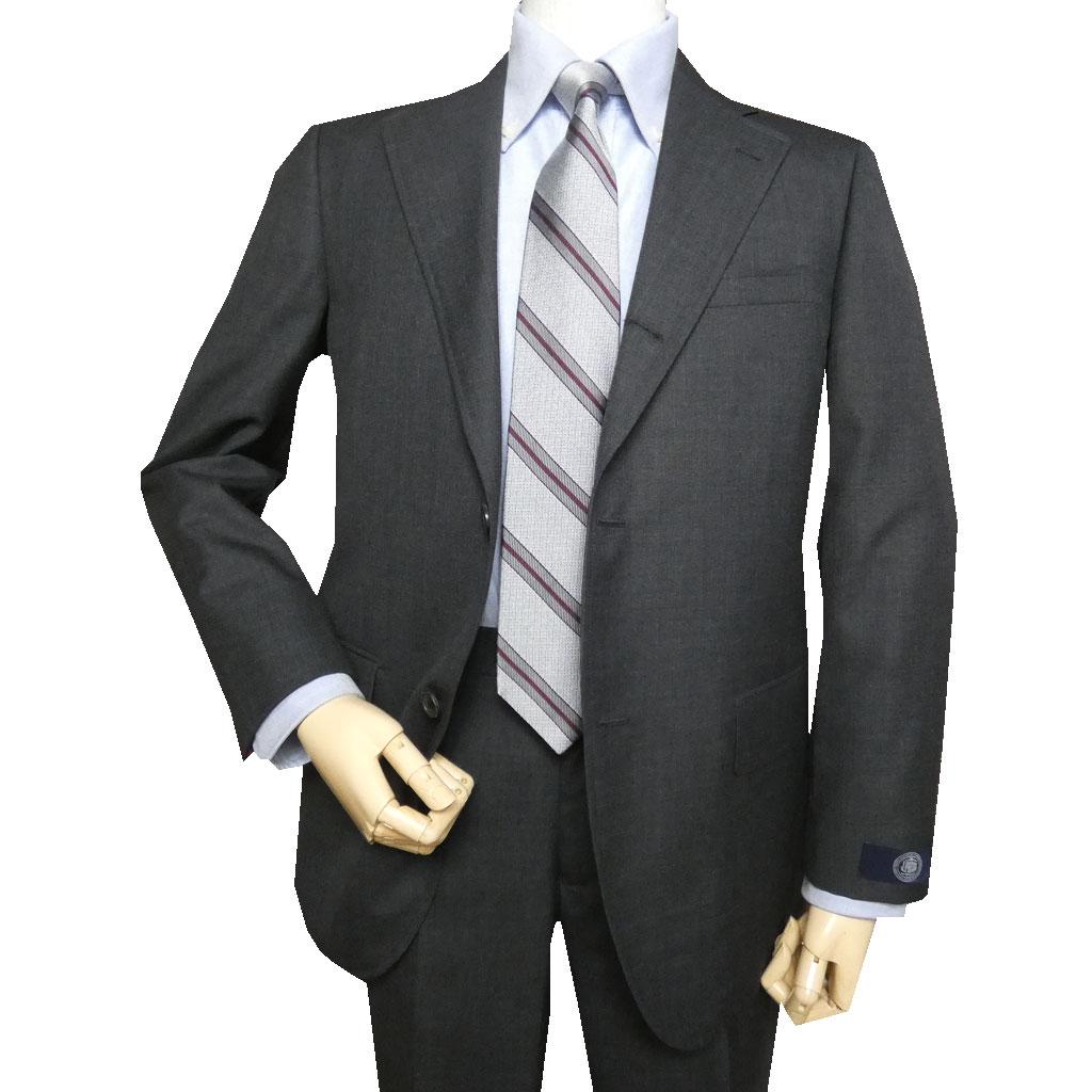 J.PRESS(ジェイプレス) スーツ メンズ 春夏 トラッド新1型 段返り3つボタン NEW AUTHENTIC MODEL チャコールグレー無地 A6 AB4 AB7 AB8