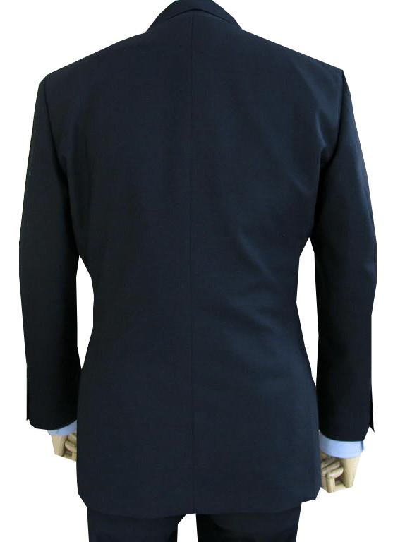 【キングサイズ】 TheoDore(セオドール) スリーピーススーツ メンズ 春夏秋 英国調 3つボタン チェンジポケット付 ウール100% 濃紺無地 ネイビー 5488 E4 E5 E6 E8