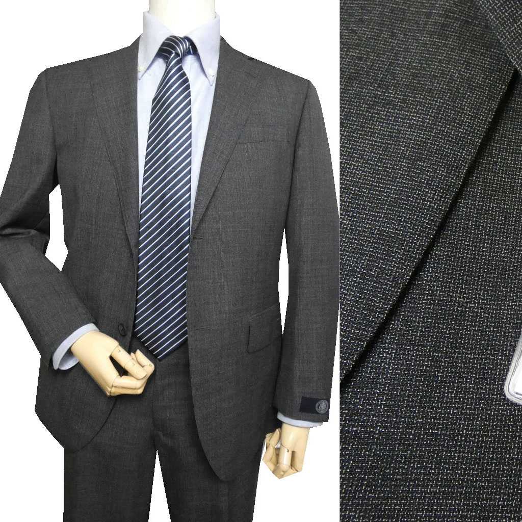 J.PRESS(ジェイプレス) スーツ メンズ 春夏秋 2つボタン CUBA BEACH チャコールグレー 0216 AB4