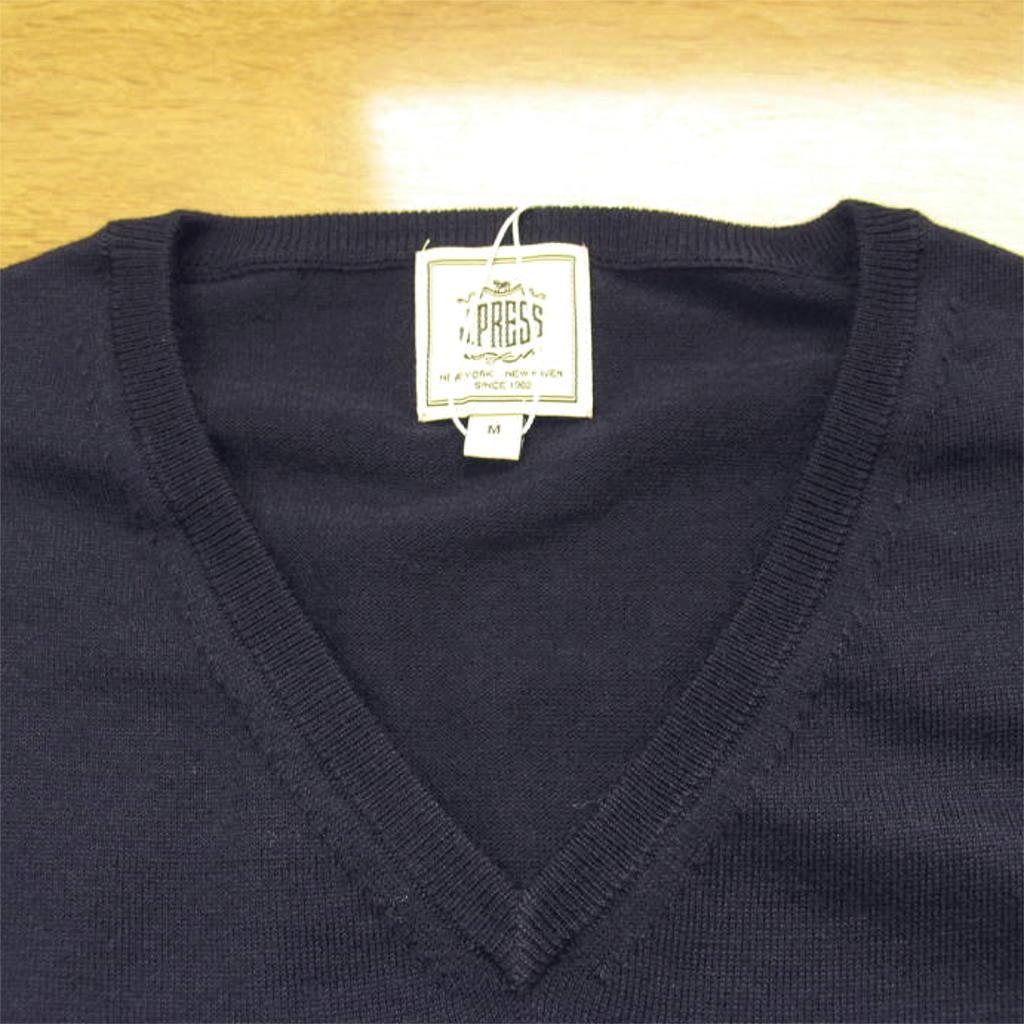 J.PRESS Vネックセーター ネイビー 1075  M L