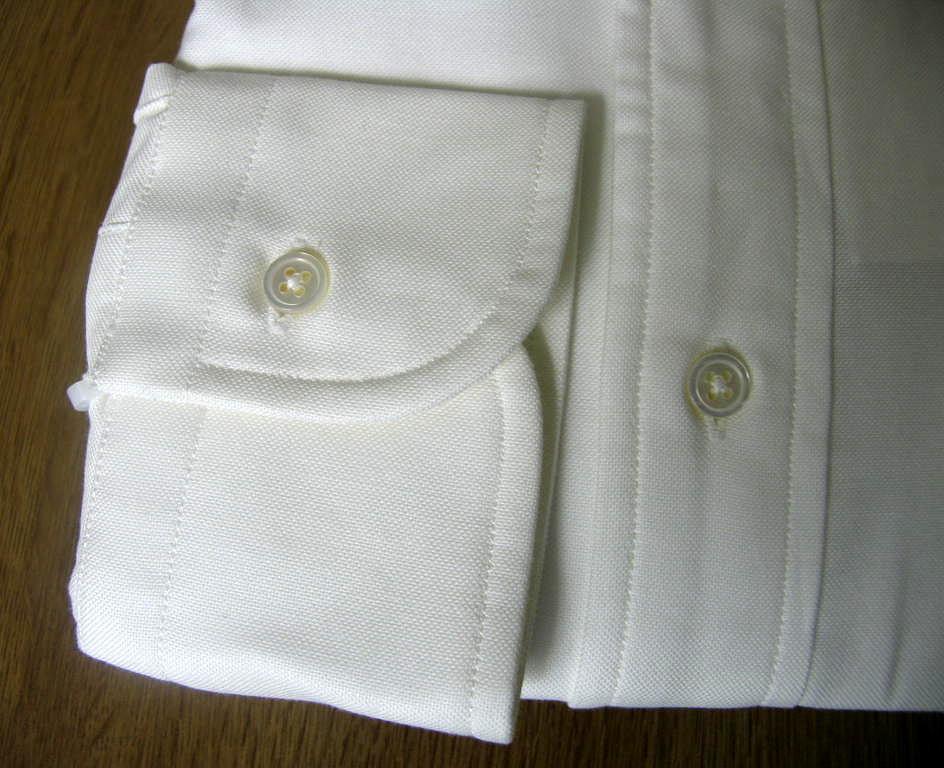 J.PRESS(ジェイプレス) ボタンダウンシャツ メンズ長袖ワイシャツ オックスフォード ホワイト  S (衿37-裄丈81cm)M(衿39-裄丈83cm)L(衿41-裄丈84cm)