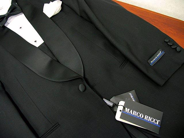 レンタルタキシード どこよりも長い2週間 貸衣装タキシード(MARCO RICCI)ショールカラー 送料・返送料・クリーニング代全て込み