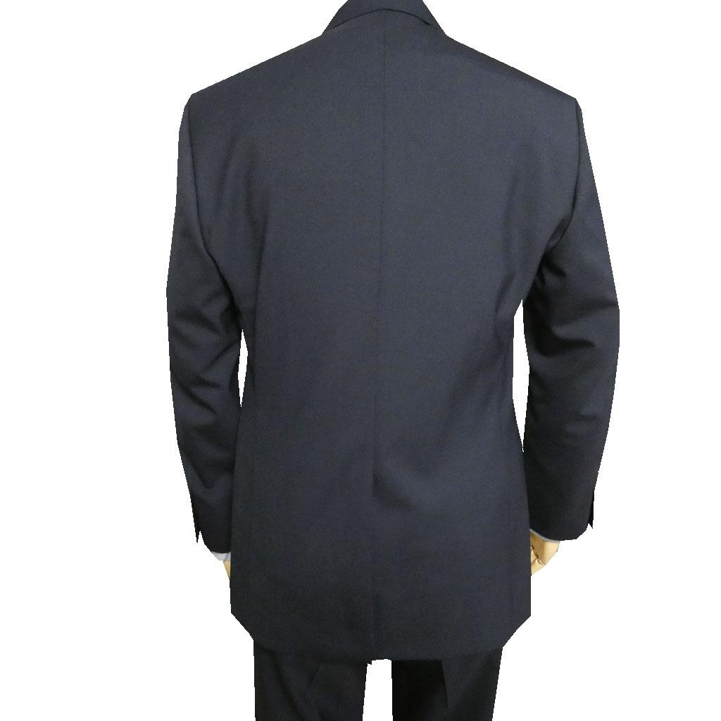 キングサイズ 春夏秋 メンズ スーツ 紺無地 段返り3つボタン OXFORD CLASSIC PremiumLine 【ノータックパンツ】  5588 E4 E5 E6 E7 E8