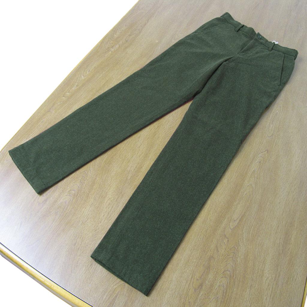 (ユナイテッドアローズ グリーンレーベル リラクシング) UNITED ARROWS green label relaxing 秋冬春 コットンイージーパンツ  オリーブグリーンノータック 【テーパード】【ストレッチ】 6710 XS