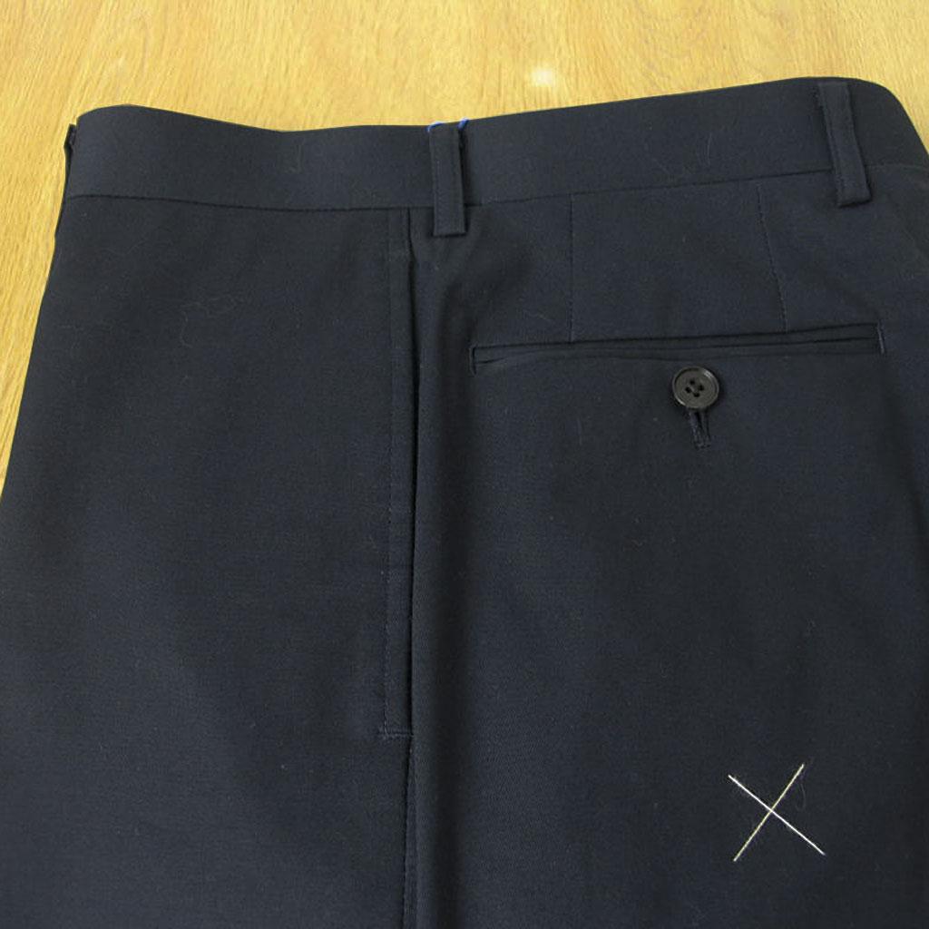 OXFORD CLASSIC PremiumLine(オックスフォードクラシックプレミアムライン) コットン パンツ メンズ 春夏秋 ノータック ネイビー 紺 0688 76cm