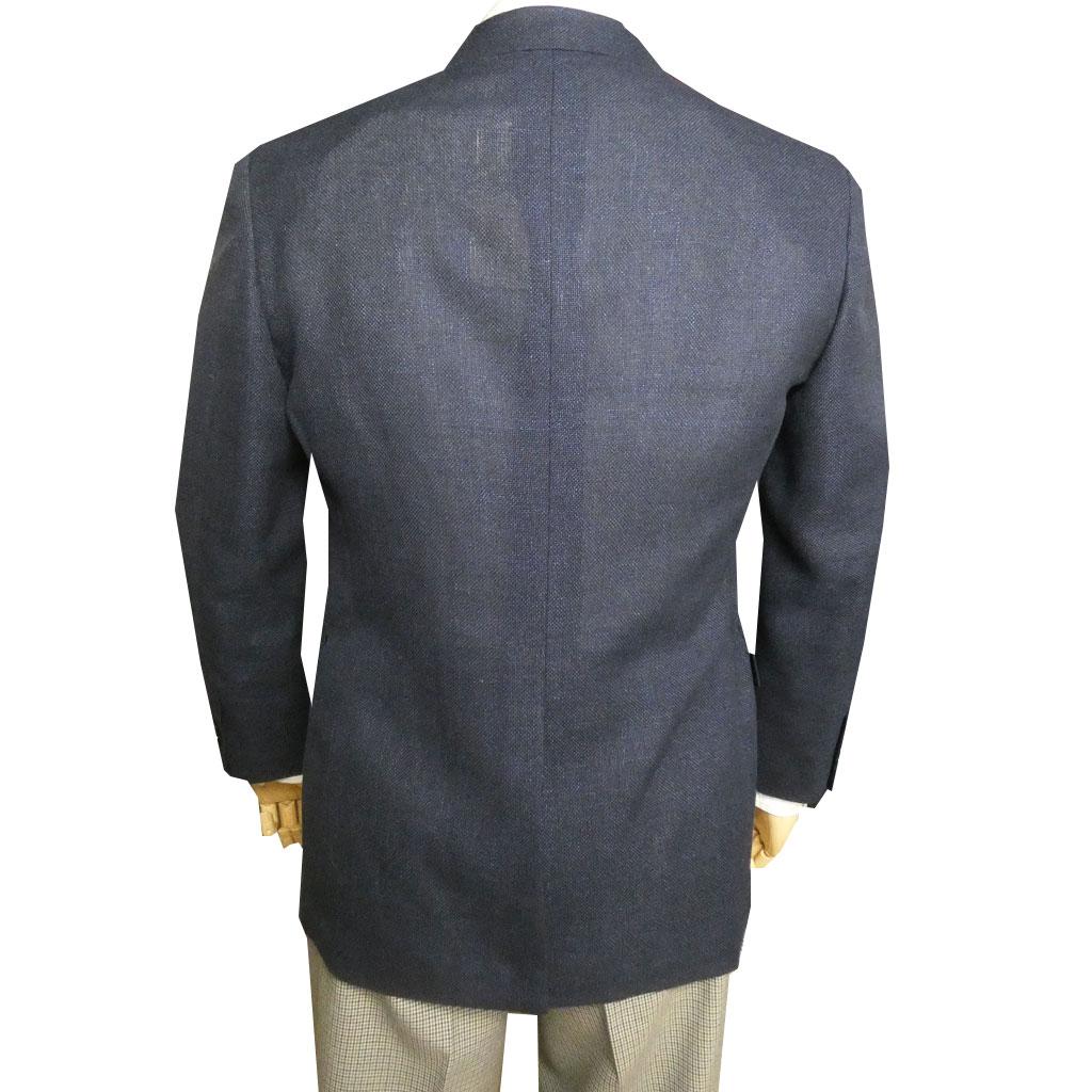 J.PRESS(ジェイプレス) 麻混 メッシュジャケット メンズ 春夏 2つボタン ネイビー 0075 紺 M