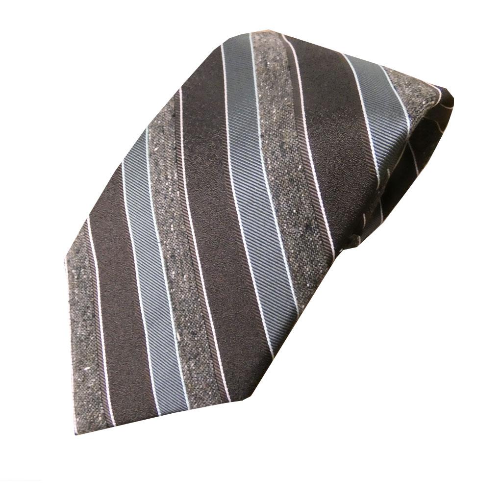 J.PRESS(ジェイプレス) ネクタイ 絹100% ブラウン系 レジメンタル TR13