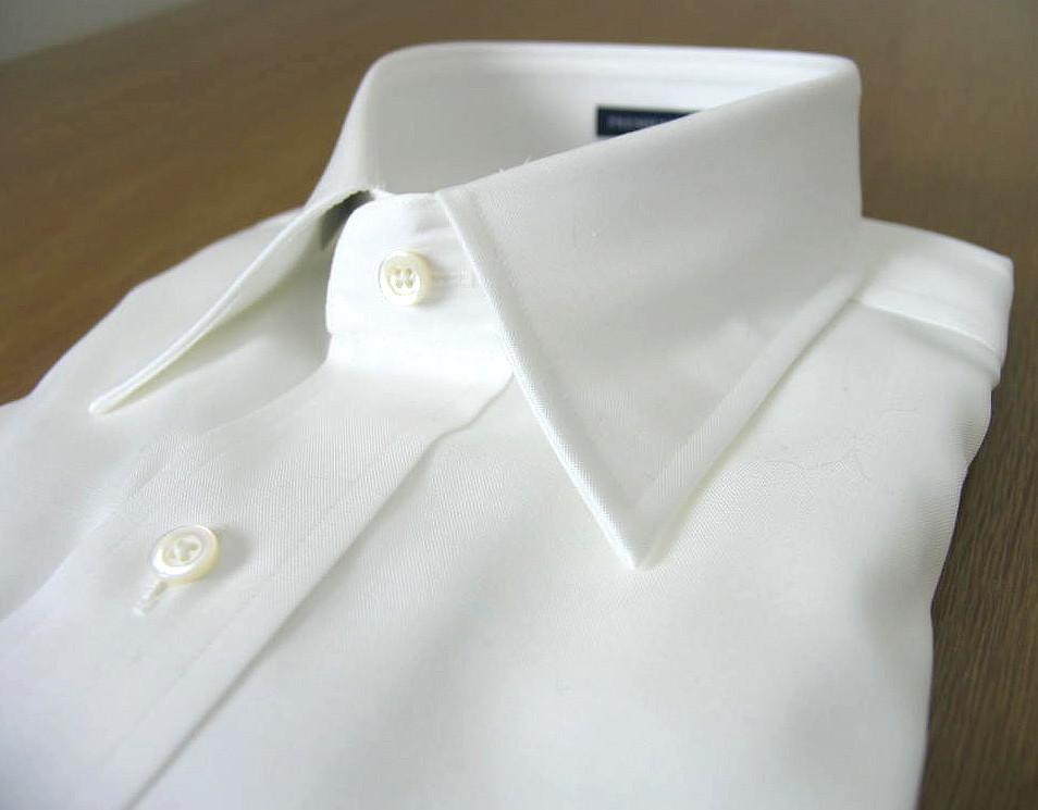 【形態安定】J.PRESS(ジェイプレス) レギュラーカラーシャツ メンズ 長袖 ワイシャツ ホワイト ピンオックス (衿41-裄丈85)