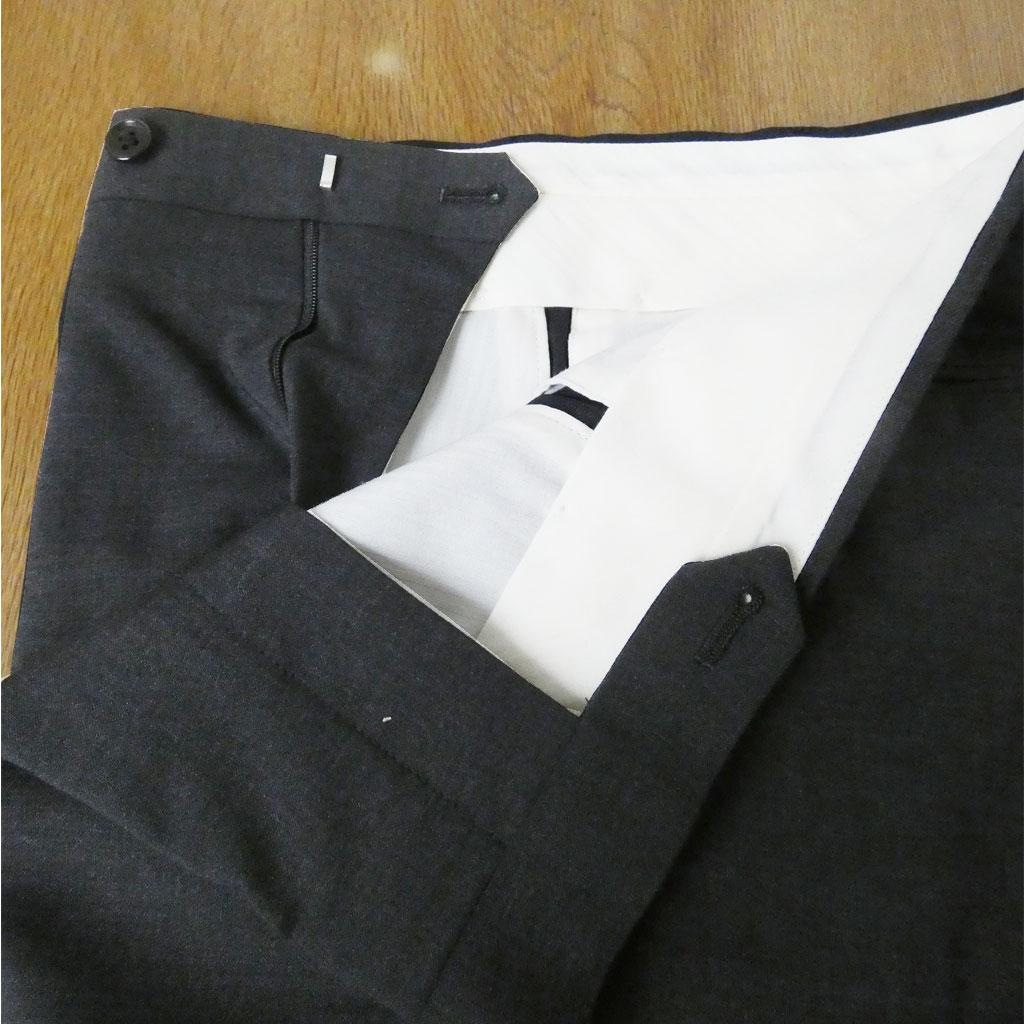 J.PRESS(ジェイプレス) パンツ メンズ 春夏 ノータック スラックス SOLOTEX チャコールグレー無地 004 79cm 82cm 85cm 88cm