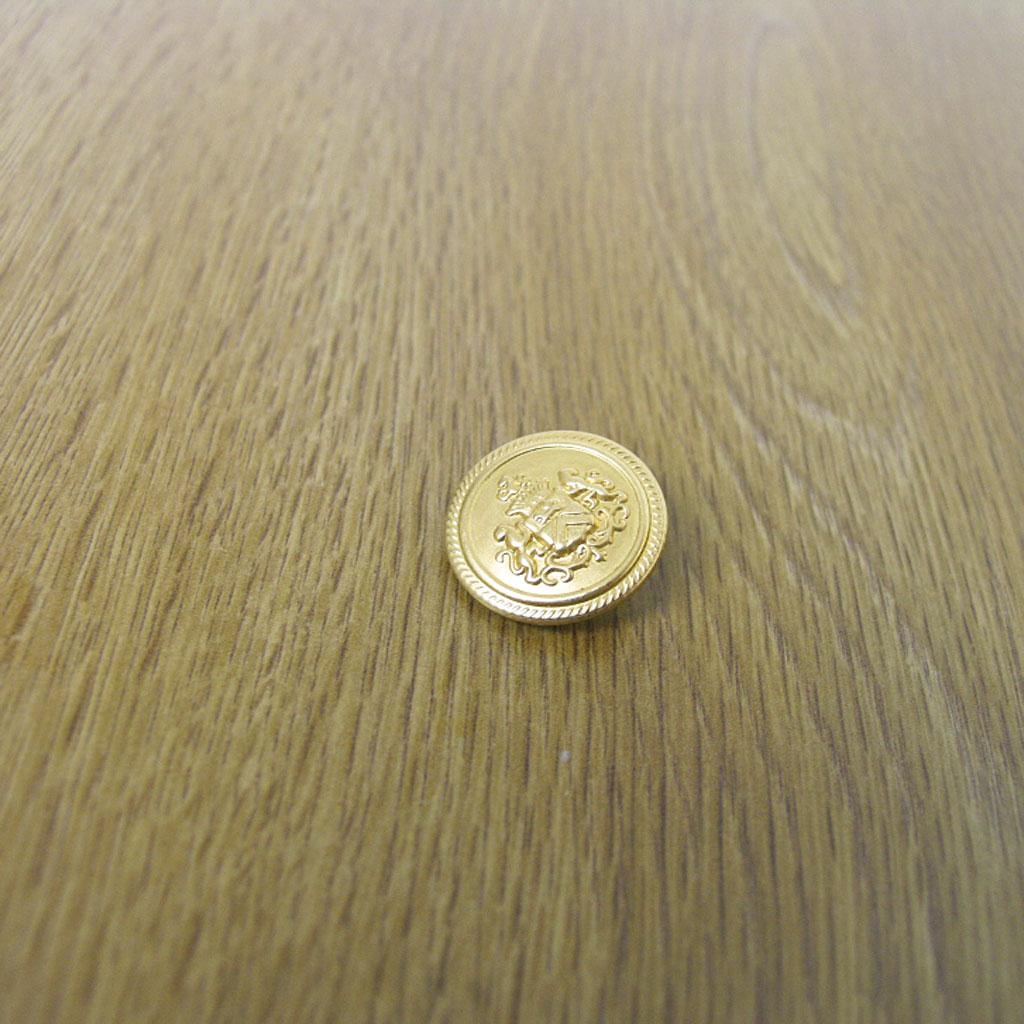 ブレザー・ジャケット用替え金ボタン 小=直径1.3cm メール便のみ送料無料