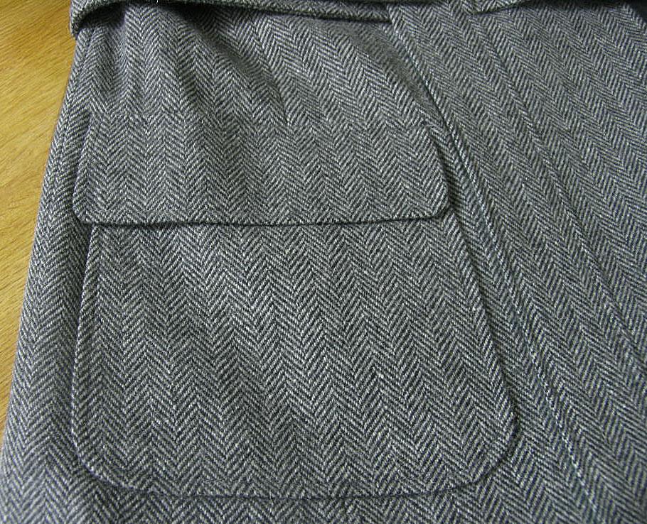 秋冬 ツイード ジャケット グレー ノーフォーク 英国調 【エルボーパッチ付】【ウール素材】 OXFORD CLASSIC 9218 A6