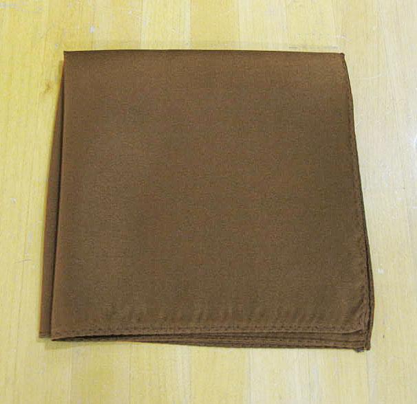 ポケットチーフ メンズ フォーマル用 ブラウン メール便送料無料