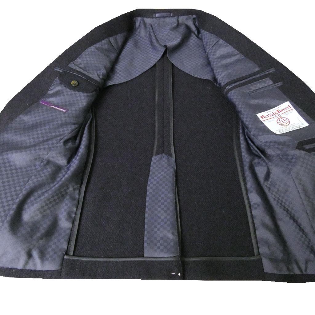 RESPECT ハリスツイード ジャケット メンズ 秋冬 2つボタン ネイビー 8988 A4 A5 A6 AB5