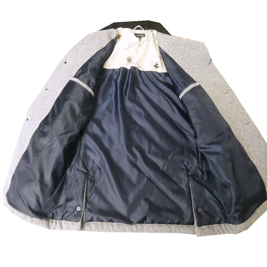stanley blackerのキルティング ジャケット シルバーグレー 2612 M L LL