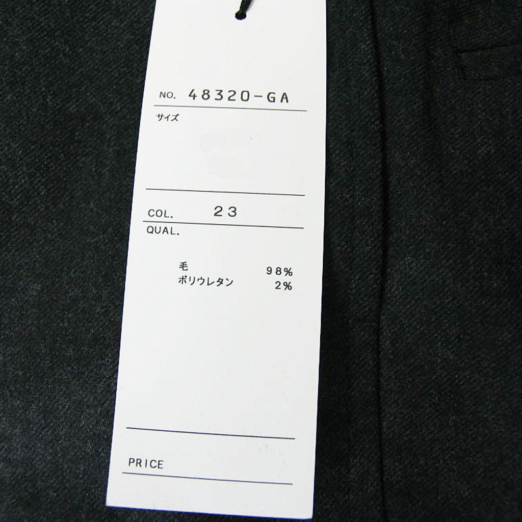 HAI-VASERONの秋冬ノータックパンツ チャコールグレー 2023   100cm