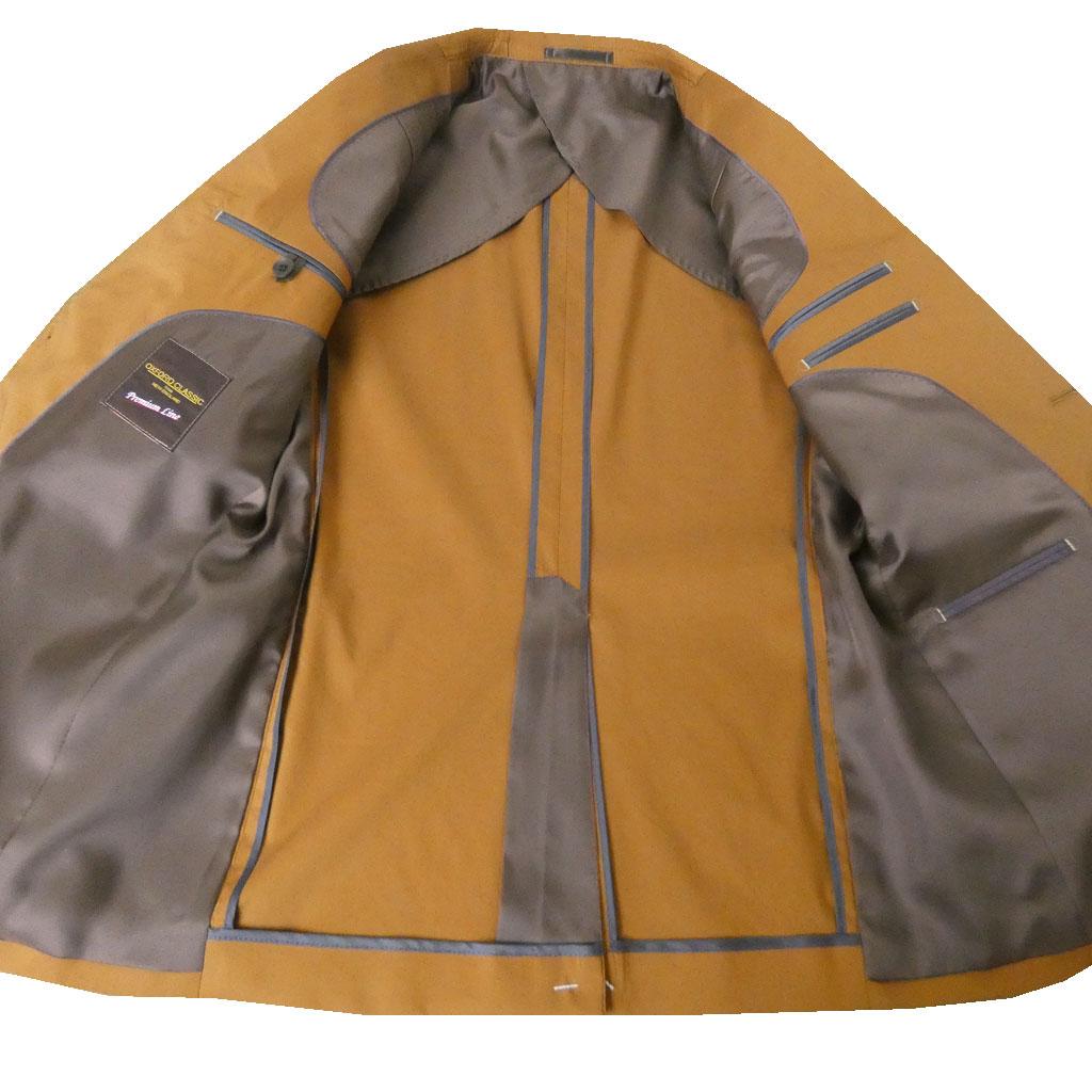 OXFORD CLASSIC PremiumLine(オックスフォードクラシックプレミアムライン) コットン ジャケット メンズ 春夏秋 ウォルナットブラウン 4555 A3 A4 A5 A6 A7 A8 AB3 AB4 AB5 AB6 AB7 BB5 BB6 BB8
