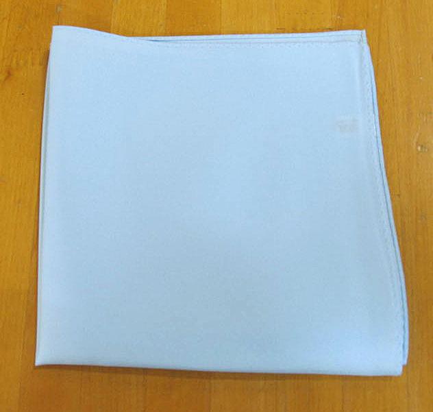 フォーマル用 ポケットチーフ ライトブルー メール便送料無料