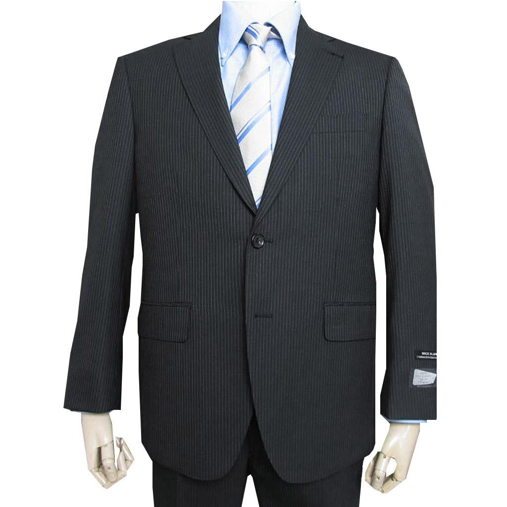 CERRUTI スーツ メンズ 春夏秋 2つボタン 黒ストライプ ブラック 6109 AB5 AB7 BB6