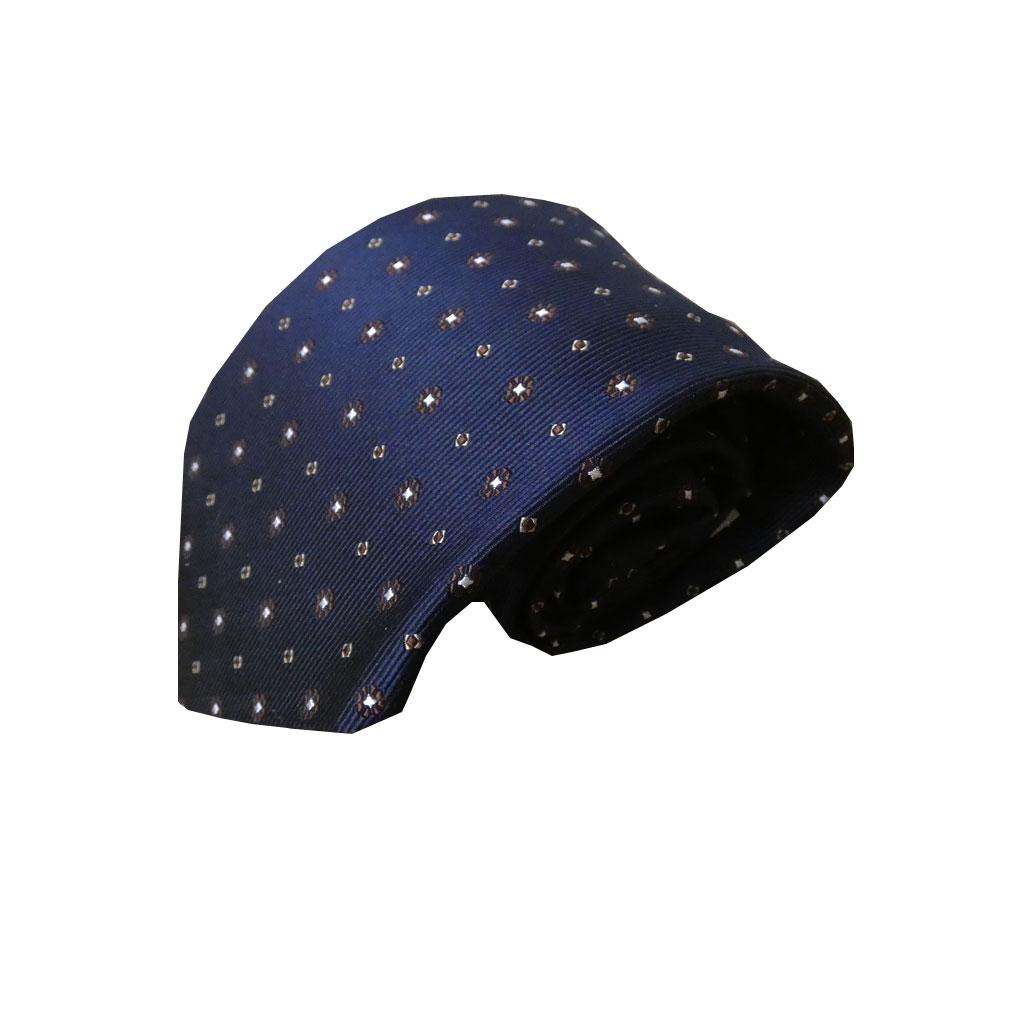 J.PRESS(ジェイプレス) ネクタイ 絹100% ネイビー 小花柄 TR21