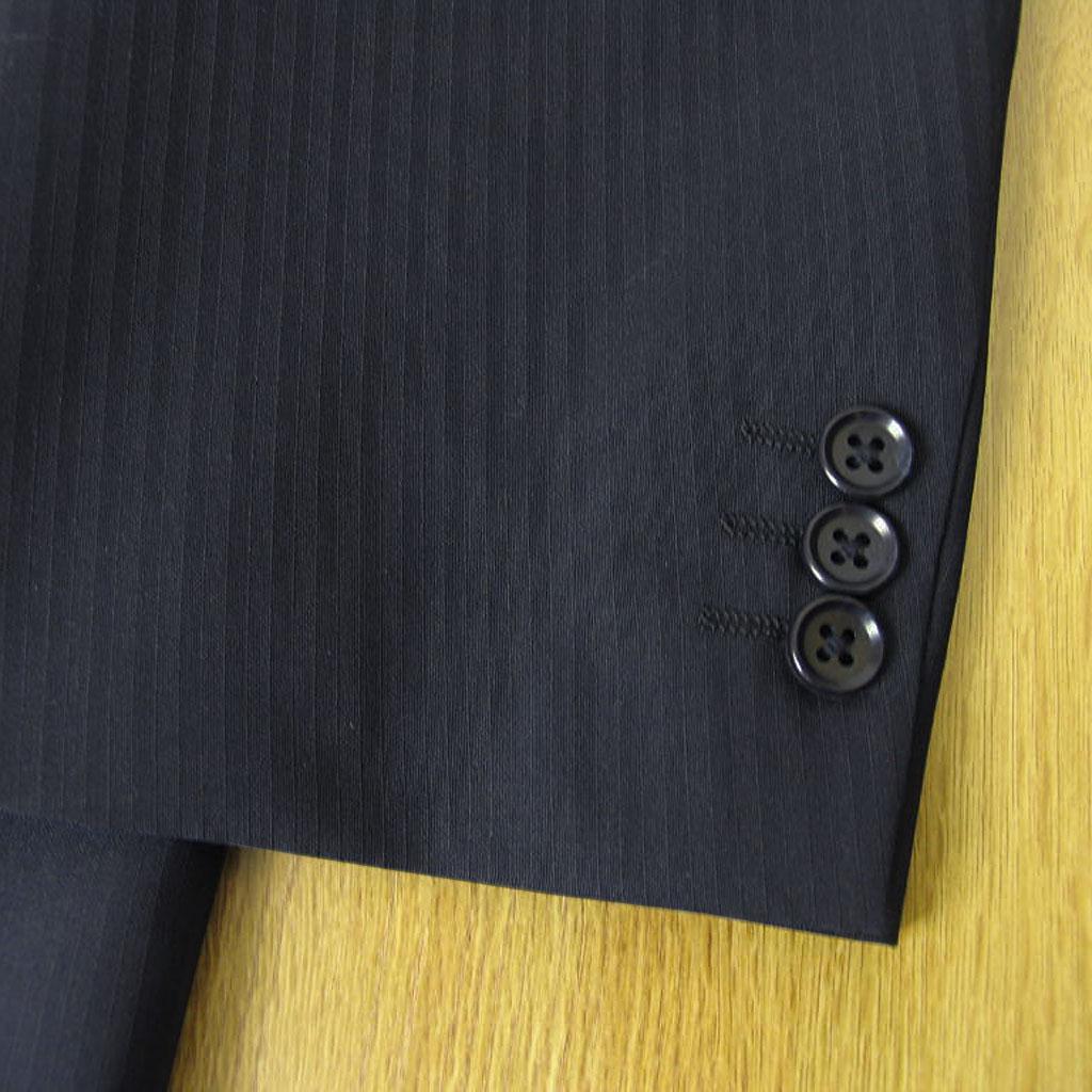 Dady Costaの春夏 2つボタン ツーパンツスーツ ネイビー シャドーストライプ 【大きいサイズ】【キングサイズ】 1113 E8
