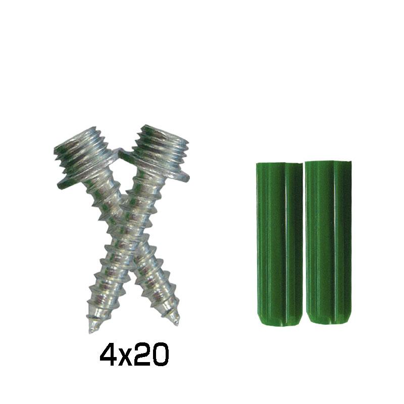 ステンコートポイントビス 2本セット+プラグ (コンクリート用)