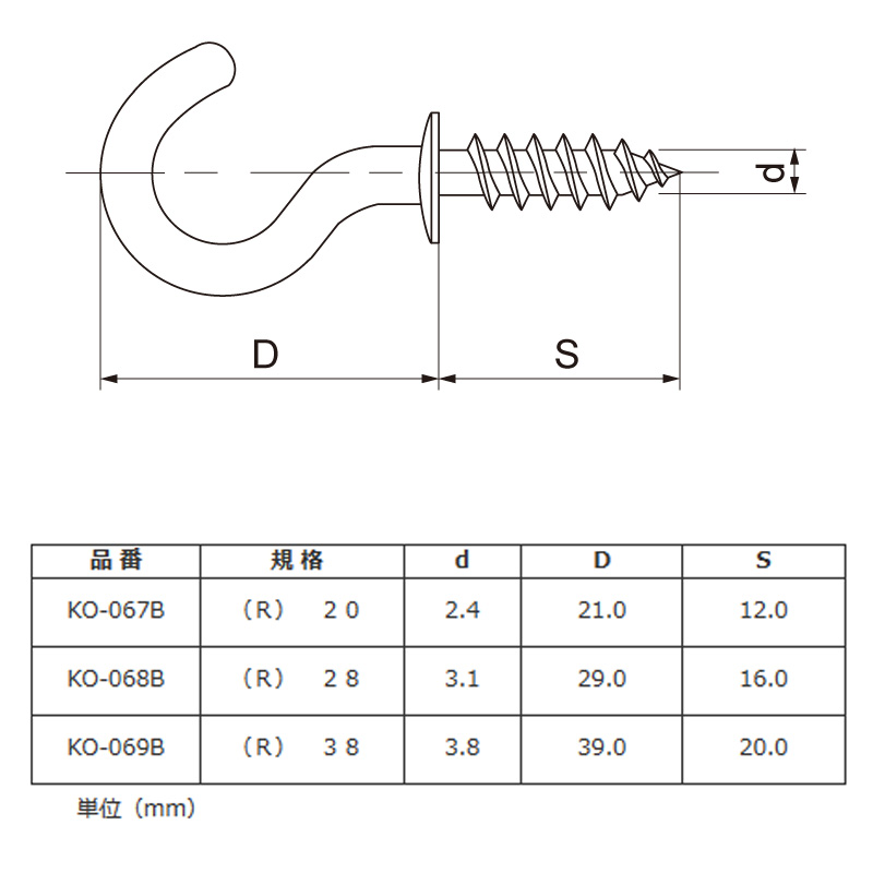 コーティング洋灯吊り(R)