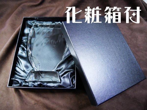 クリスタルトロフィ時計付 【大】