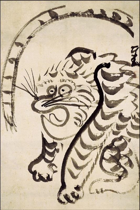 ポストカード 仙�義梵《虎図》