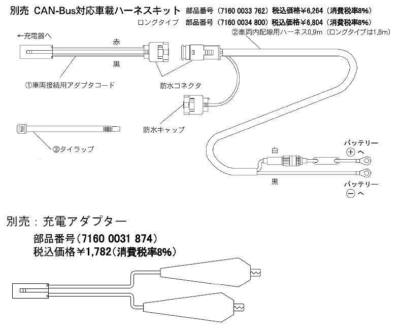 BMW純正 開放型.MF.リチウムバッテリー対応充電器/ヘラープラグ接続