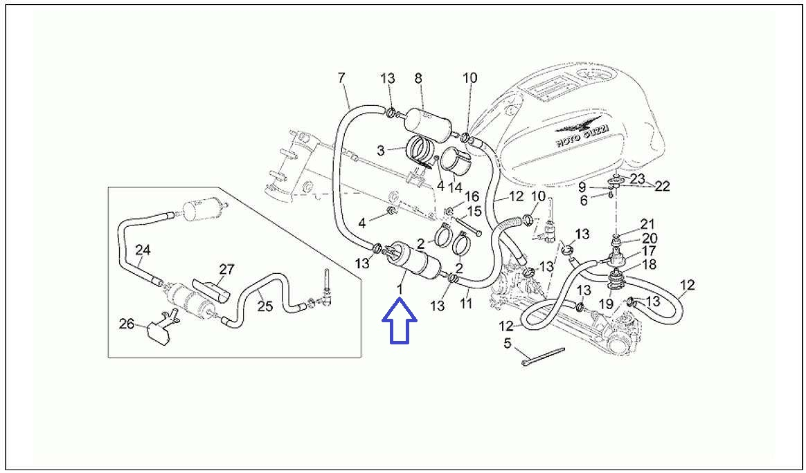 モトグッチ適合部品 燃料ポンプ/V11系.1100スポーツ系.1000デイトナ系.クォータ系.1100カリフォルニア系