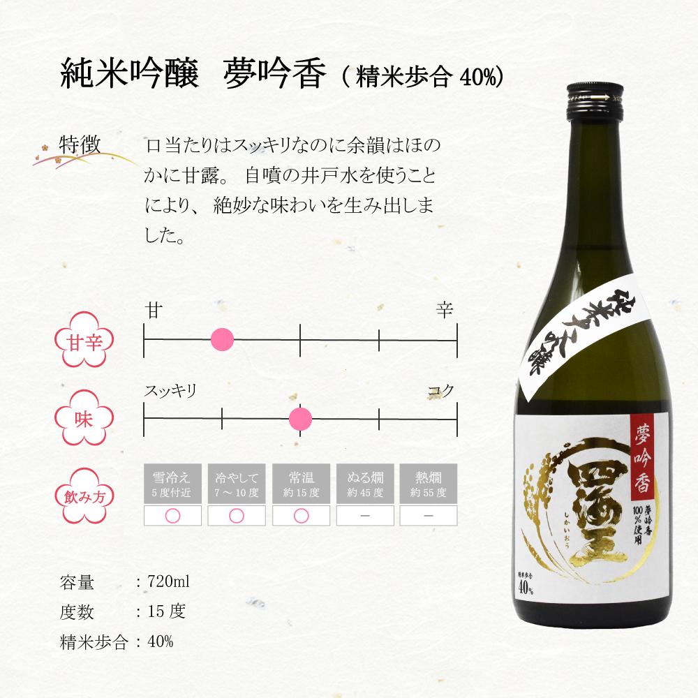 【送料込み】東三河ふるさとセット 純米大吟醸「夢吟香 40%」720ml & 「梅酒 四海王」500ml