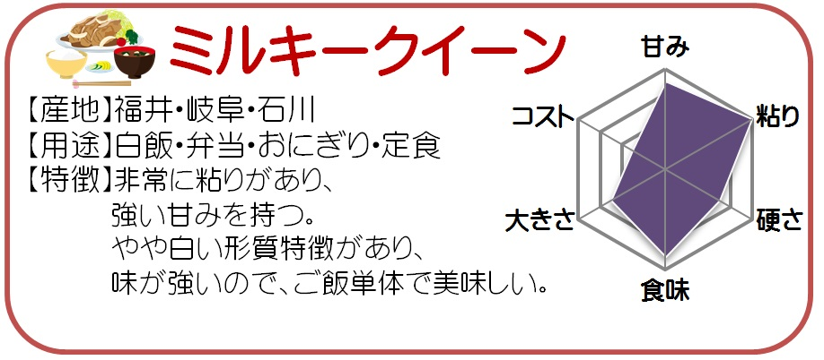 お試しサイズ ミルキークィーン 無洗米 1kg 福井県産