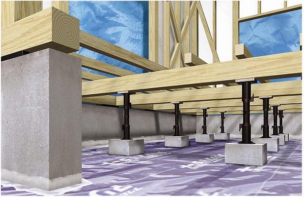 フクビ化学工業 木造住宅用樹脂製機能束 プラ束宝生〔ほうしょう〕 台板タイプ 305G