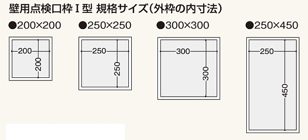フクビ化学工業 壁用点検口枠I型  K1W****