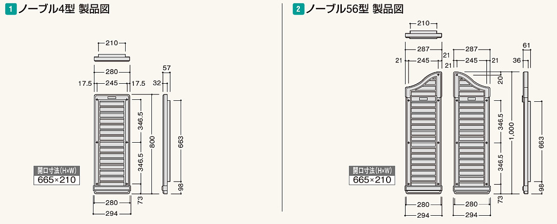 フクビ化学工業 小屋裏用樹脂製換気器材 大型ヤギリ ノーブル〔防虫ネット付〕