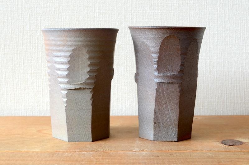 ビアカップ/面取/炭化