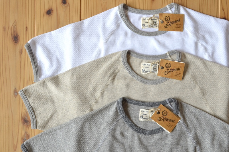 Kepani ケパニ Ringer T 半袖Tシャツ(カラー:04.ライトグレー)