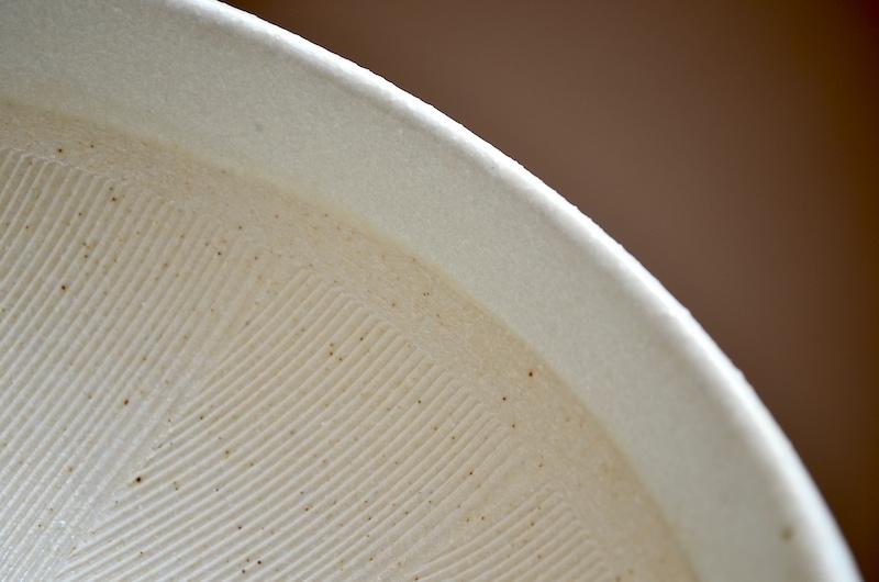 六寸片口すり鉢 白カラツ