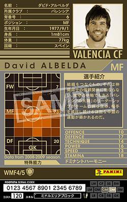 【FOOTISTA 変換済み】 【08-09   WMF4】ダビド・アルベルダ