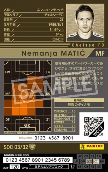 【FOOTISTA 変換済み】【14-15OE   SOC03】ネマニャ・マティッチ